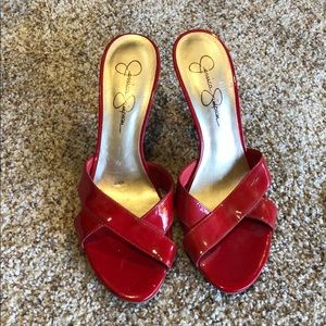 Jessica Simpson Red slip on
